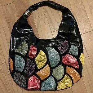 🆕Vintage 80's Hobo Patchwork Shoulder Bag